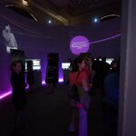 Mobile Tour Interactive Walk Thru Projection Mapping LED Circular Room with Globe