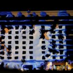 Wildhorse Projection Mapping on Exterior of Building Water Splash