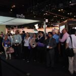 Epson InfoComm Crowd Watching Booth Awe