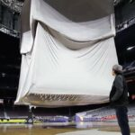 NCAA Final Hour Engagement Projection Mapping Scrim Lowered