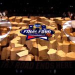 NCAA Final Hour Engagement Projection Mapping Basketball Court Content